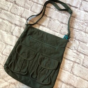 Military style olive Forrest green messenger bag